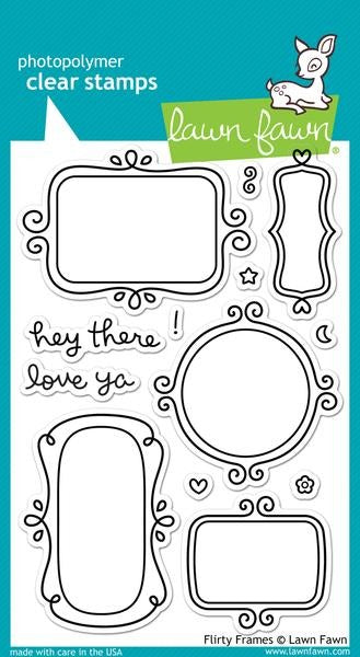 Lawn Fawn, Flirty Frames, Clear Stamps