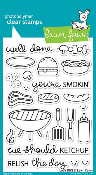 Lawn fawn, Let's BBQ, Clear Stamps - Scrapbooking Fairies
