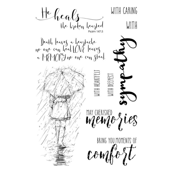 "Colorado Craft Company Clear Stamps 4""X6"", Sympathy -Lovely Legs"