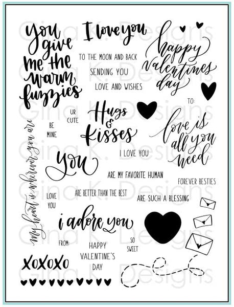 Gina K. Designs, Clear Stamps, Love Is All You Need Stamp Set