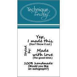 "Technique Tuesday,  Clear Stamps 2""X2.5"", Made With Love"