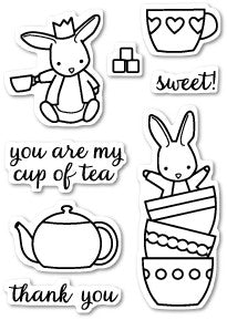 Memory Box, Bunny Tea Time, Clear Stamps - Scrapbooking Fairies
