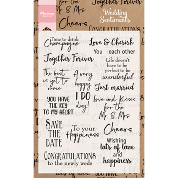 Marianne Design, Wedding Sentiments, Clear Stamps - Scrapbooking Fairies