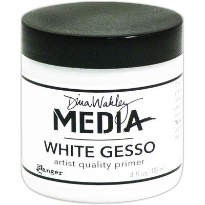 Dina Wakley Media Gesso 4oz Jar, White