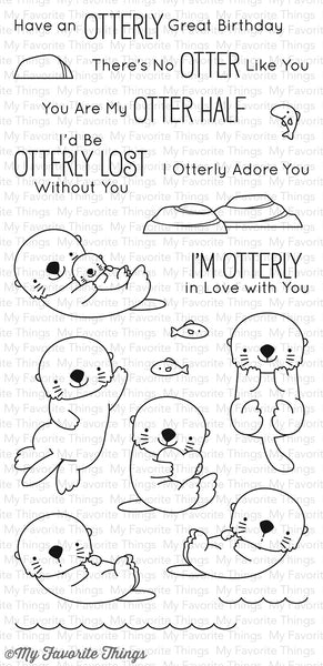 Otterly Love You Clear Stamps - Scrapbooking Fairies