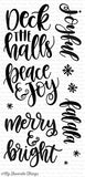 My Favorite Things, Clear Stamp, Handwritten Holiday - Scrapbooking Fairies