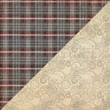 "Mister One, Double-Sided Cardstock 12""X12"", #1 Grey & Red Plaid"