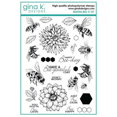 Gina K. Designs, Clear Stamps, Beautiful Bees