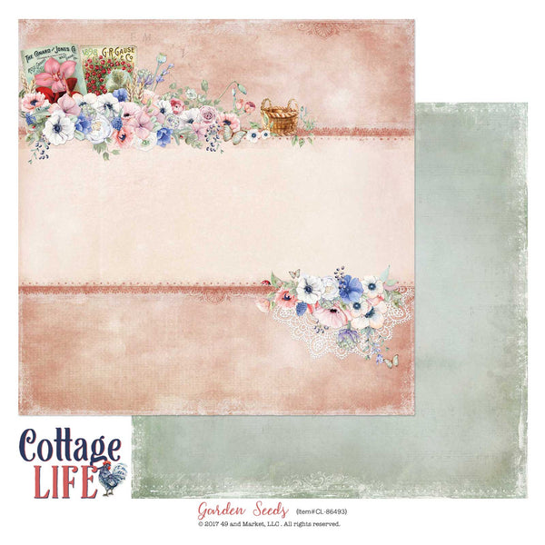 "Cottage Life Double-Sided Cardstock 12""X12"", Garden Seeds"