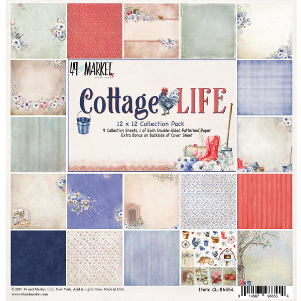 "49 And Market Collection Pack 12""X12"", Cottage Life"