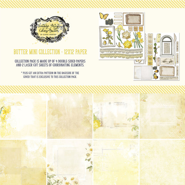 "49 And Market Collection Pack 12""X12"", Vintage Artistry Butter"