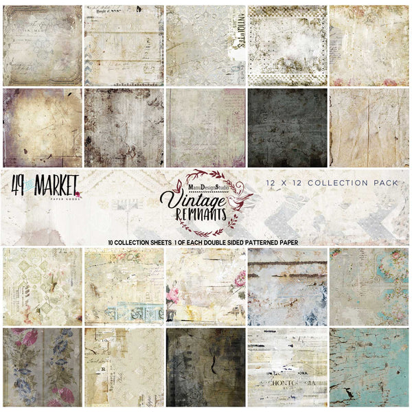 "49 And Market Collection Pack 12""X12"", Vintage Remnants"