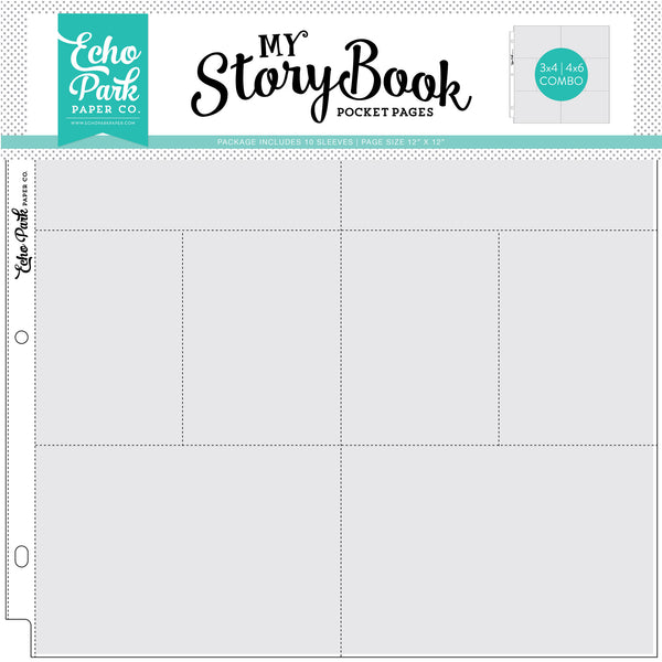 "4""x6""/3""x4"" Pockets - 12""x12"" Pocket Page 10 Sheet Pack - Scrapbooking Fairies"