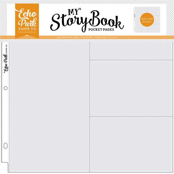 "6""x12""/4""x6"" Pockets - 12""x12"" Pocket Page 10 Sheet Pack - Scrapbooking Fairies"
