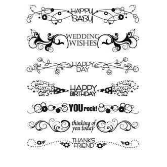 My Sentiments Exactly Clear Stamps, Flourish Greetings - Scrapbooking Fairies