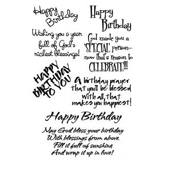 "My Sentiments Exactly Clear Stamps 4x6"" Sheet, Inspirational Birthday - Scrapbooking Fairies"