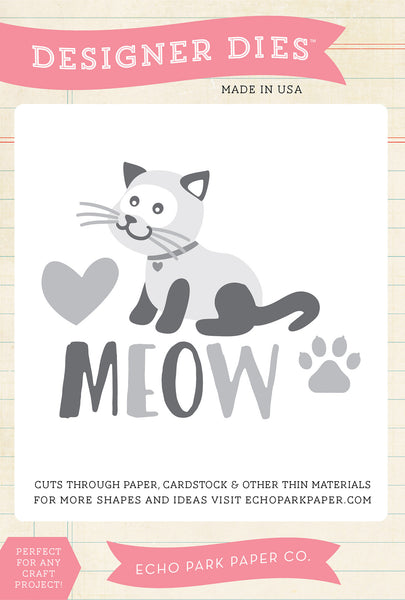 Echo Park, Cat's Meow Die Set - Scrapbooking Fairies
