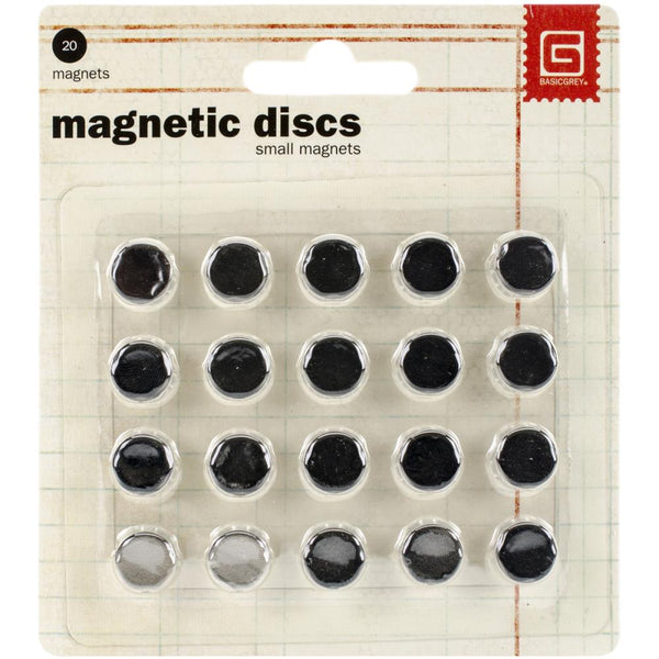 "Basic Grey, Magnetic Discs .375"" 20/Pkg - Scrapbooking Fairies"