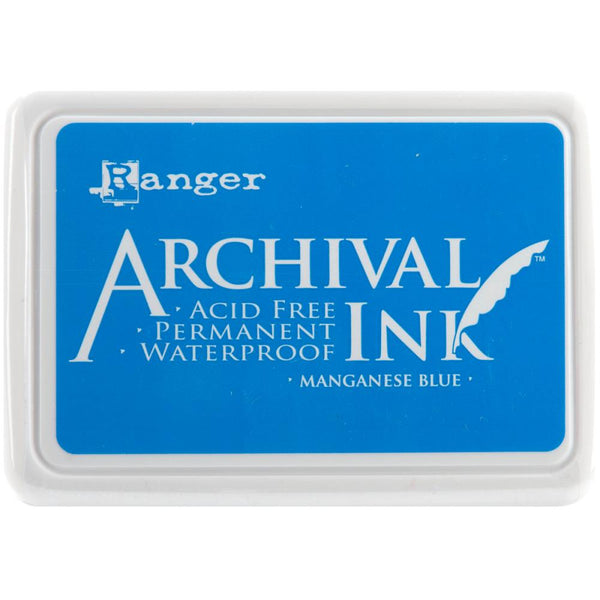 Ranger Archival Ink Pad, Manganese Blue