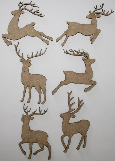 Southern Ridge, Chipboard Die Cut, Merry Deer Mix (Small)