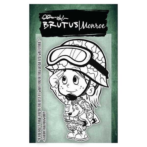 "Brutus Monroe, Clear Stamps 3""X4"", When I Grow Up - Military"