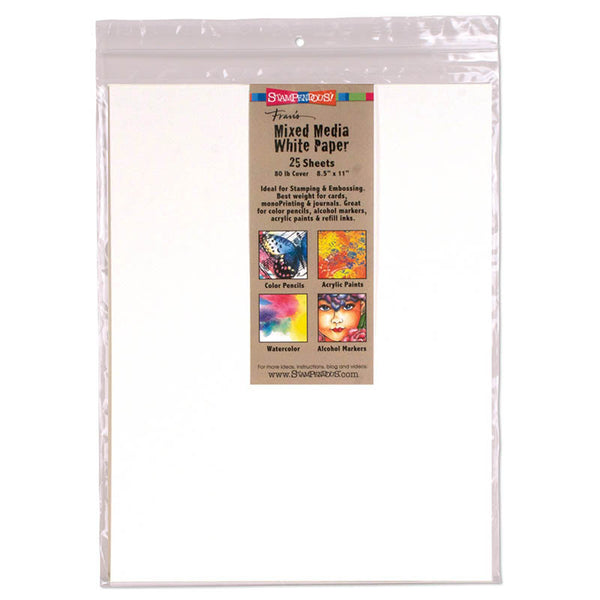 "Stampendous, 8"" x 11"" Mixed Media White Paper, 80 lbs - Scrapbooking Fairies"