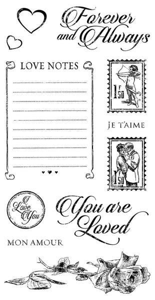 Graphic 45/Hampton Art, Mon Amour 2, Cling Stamps