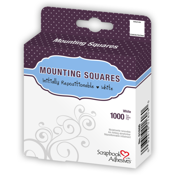 Mounting Squares - 1000 White, Temporarily Repositionable