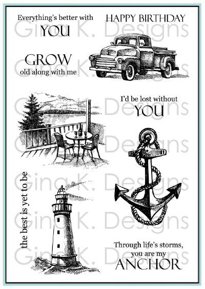 Gina K. Designs, Clear Stamps, My Anchor