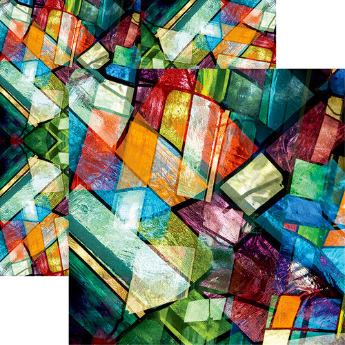 Ella and Viv Paper - Stained Glass Collection - 12 x 12 Double Sided Paper - My Church