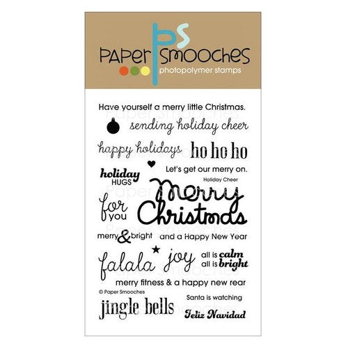 "Paper Smooches Clear Stamps 4""X6"",  Holiday Cheer"