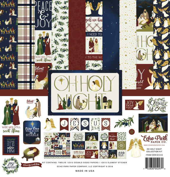 "Echo Park Paper Co., Collection Kit 12""X12"", Oh Holy Night"