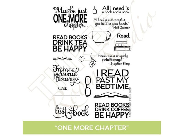 "Three Room Studio, ""One More Chapter"" Clear Stamp Set"