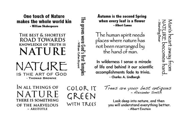 The Stampscapes® Scenic Sentiment Sheets, Cling Foam, Sentiments Sheet 1 (Nature/Trees)
