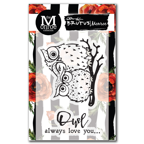 "Brutus Monroe,  Clear Stamps 3""X4"", Owl Love You"