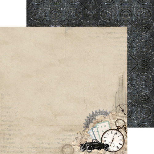 "Kaisercraft, Barber Shoppe Double-Sided Cardstock 12""X12"", Razor"