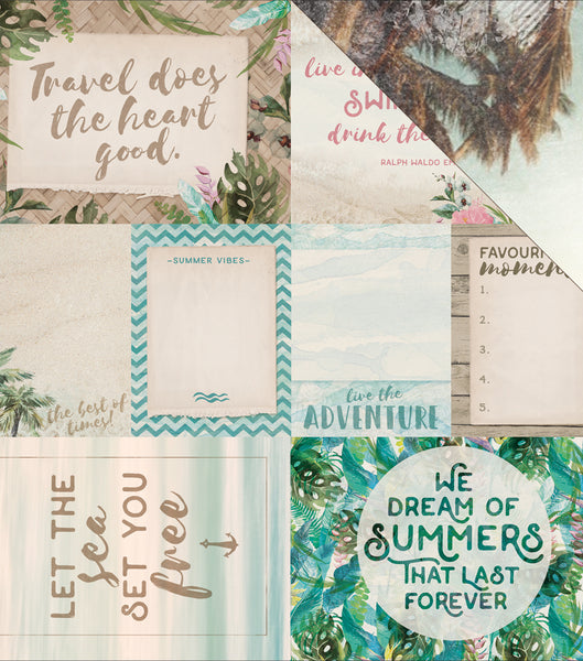 "Kaisercraft, Island Escape Double-Sided Cardstock 12""X12"", Kahakai"