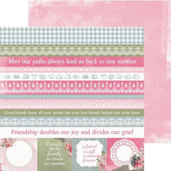 Kaisercraft, High Tea Collection - 12'x12' Double Sided Cardstock, Shortcake