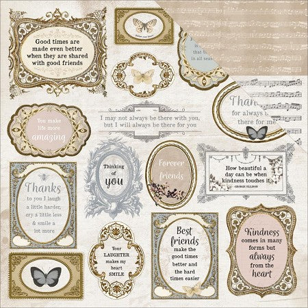 Kaisercraft, Romantique Collection - 12'x12' Double Sided Cardstock, Symphony