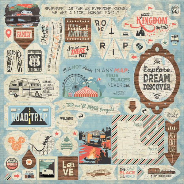 Authentique: Pastime - Details Sticker Sheet 12x12