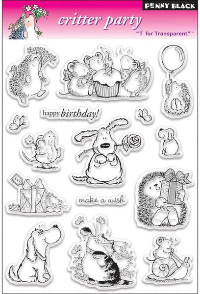 Penny Black, Critter Party, Clear Stamps - Scrapbooking Fairies