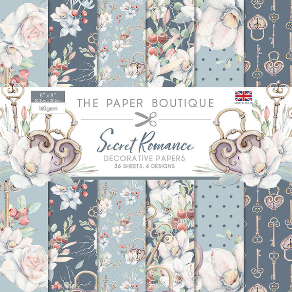 "The Paper Boutique, Secret Romance, 8"" x 8"" Paper Pad"