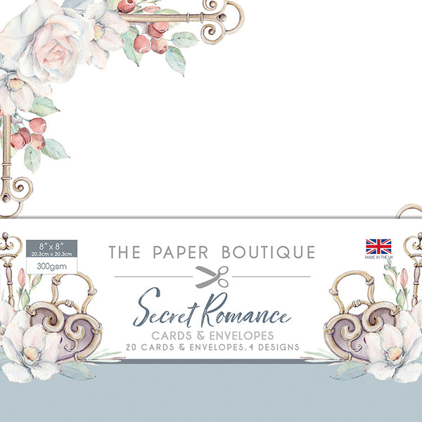 "The Paper Boutique Secret Romance 8"" x 8"" Cards and Envelopes Collection"
