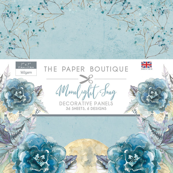 "The Paper Boutique, Moonlight Song, Decorative Panels,  7""x 7"" Panel Pad"