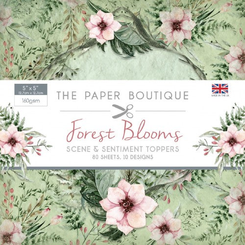 "The Paper Boutique Forest Blooms 5""x5"", Sentiments Pad"