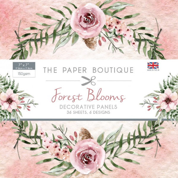 "The Paper Boutique Forest Blooms 7"" x 7"", Decorative Panel Pad"