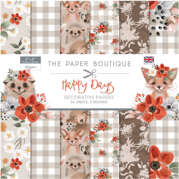 "The Paper Boutique, Happy Days, 8"" x 8"", Embellishment Pad"