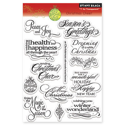 Penny Black, Christmas Cheer, Clear Stamps