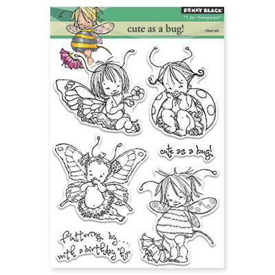 Penny Black, Cute As Bug! Clear Stamps - Scrapbooking Fairies