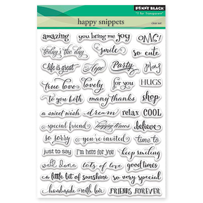 Penny Black, Happy Snippets, Clear Stamps Set